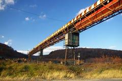 Transportador abandonado de la mina Imagenes de archivo
