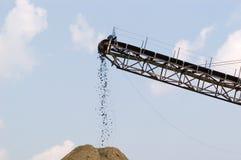 Transportador en la mina, horizontal Fotos de archivo