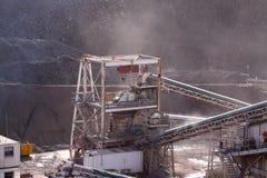 Transportadores en la mina Imagenes de archivo