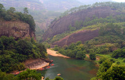 Transportando no rio de nove curvaturas, China fotos de stock royalty free
