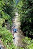 Transportar na garganta no rio da montanha de Balis Imagens de Stock Royalty Free