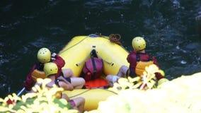 Transportar no rio de Kaituna video estoque