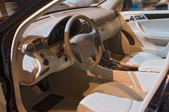 Transportation 048 auto show inside car Stock Photo