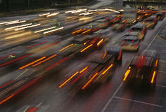 Transportation. Vehicles in movement in the city of Monterrey, Mexico stock image