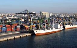 Transportation , Casablanca cargo port , Morocco Stock Photo