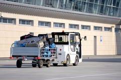 Transportation at the airport. Royalty Free Stock Photos