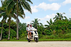 Transportation in Aitutaki Cook Islands Royalty Free Stock Photos