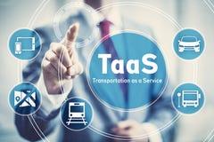 Transportation as a Service concept illustration. TaaS, Transportation as a Service startup business concept illustration Royalty Free Stock Image