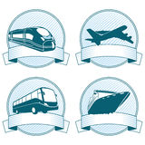 Transportation Banner Icons Stock Image