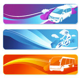 Transportation banners set Stock Image