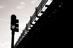 Transportation in Black and White Royalty Free Stock Photography