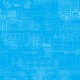Transportation blueprint Royalty Free Stock Images