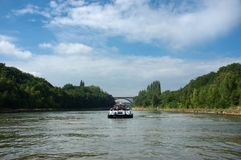 Transportation with boat. Royalty Free Stock Photography