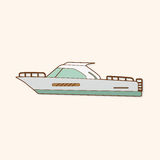 Transportation boat theme elements vector,eps Royalty Free Stock Photography