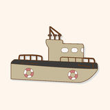 Transportation boat theme elements vector,eps Royalty Free Stock Image