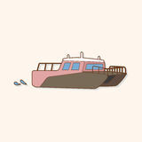 Transportation boat theme elements vector,eps Royalty Free Stock Photos