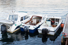 Transportation boat for water taxi in summer time. Stock Photos