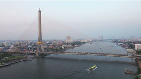 Transportation at The bridge in Bangkok stock video footage
