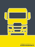 Transportation brochure design with truck Royalty Free Stock Photography