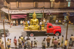 The transportation of the Buddha Royalty Free Stock Image