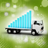 Transportation of business graph in  truck Stock Photography