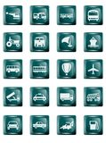 Transportation Buttons Stock Photography
