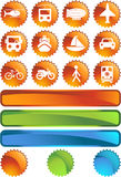 Transportation Buttons - Label Royalty Free Stock Images