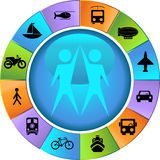 Transportation Buttons - Wheel Royalty Free Stock Photography