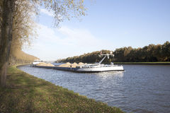 Transportation through canal in the netherlands Royalty Free Stock Photography