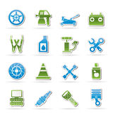 Transportation and car repair icons Royalty Free Stock Image