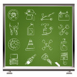 Transportation and car repair icons Stock Photo