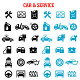 Transportation and car service flat icons Royalty Free Stock Image