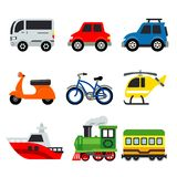 Transportation Car Vehicles transport Vector illustration Stock Photos