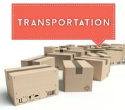 Transportation cardboard boxes ready for shipment royalty free stock images