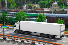 Transportation of cargoes by lorry Royalty Free Stock Images