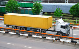 Transportation of cargoes by lorry Stock Image