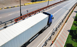 Transportation of cargoes by lorry Royalty Free Stock Photography