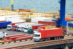 Transportation of cargoes by lorry Royalty Free Stock Photos