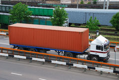 Transportation of cargoes by lorry Royalty Free Stock Photo
