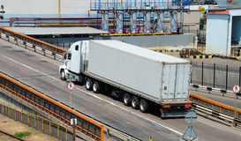 Transportation of cargoes by lorry Stock Photo