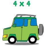 Transportation 4x4 cartoon vector art. Collection stock Royalty Free Stock Photo