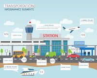 Transportation and city Royalty Free Stock Image