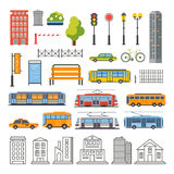 Transportation and City Traffic Infographics vector illustration