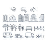 Transportation and City Traffic Infographics Royalty Free Stock Photography