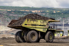 Transportation in Coal Mining. Big foot Transportation in Coal Mining Stock Images