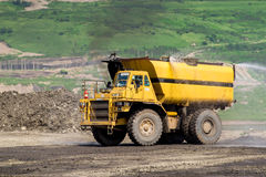 Transportation in Coal Mining. Big foot Transportation in Coal Mining Stock Photography