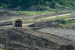 Transportation in Coal Mining. Big foot Transportation in Coal Mining Royalty Free Stock Image