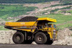 Transportation in Coal Mining. Big foot Transportation in Coal Mining Royalty Free Stock Photography