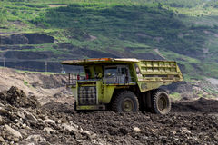 Transportation in Coal Mining. Big foot Transportation in Coal Mining Royalty Free Stock Photo