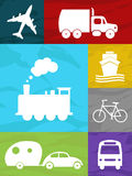 Transportation collage Stock Photography